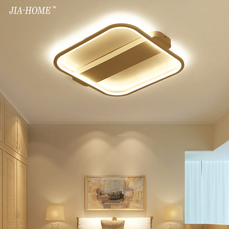 Square ceiling lights plafond lamp for living room bedroom Foyer modern led ceiling lamp dimming home lighting lamparas de techo crystal modern led ceiling lights for living room bedroom ac85 265v lustre lamparas de techo avize crystal ceiling lamp fixtures
