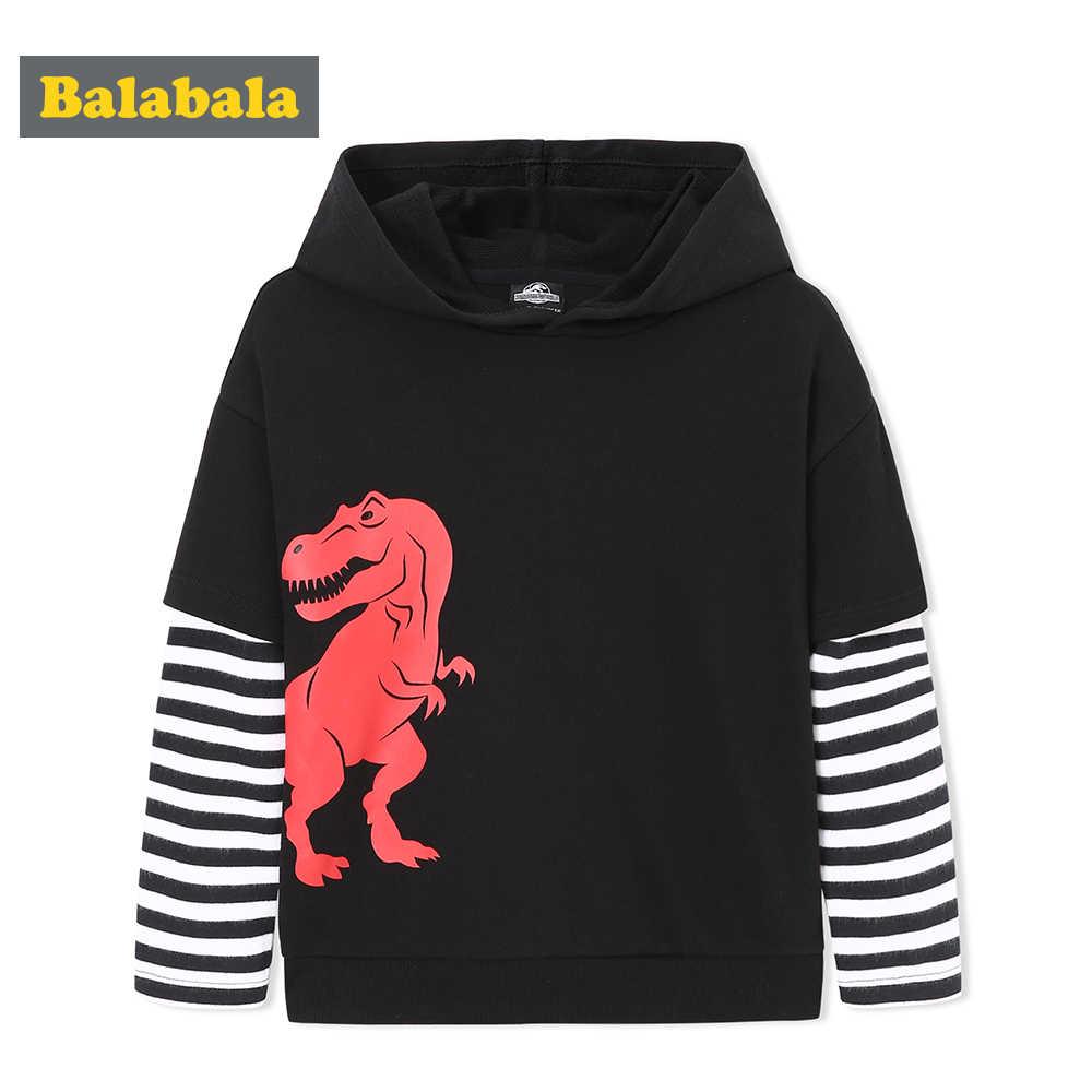 Balabala ילד פעוט מזויף 2-חתיכה דינוזאור סלעית סווטשירט עם פסים שרוול ילדי ילדי סוודר הסווטשרט רך כותנה מרופד