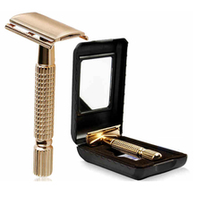 Straight Razor Shaving Set For Men Barbeador Classic Manual Navaja Shaver Zinc alloy + plating rose gold waterproof manual razor