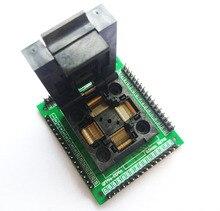 Tqfp64 lqfp64 qfp64 adaptador de soquete programador ic chip banco teste stm32 FPQ 64 0.5 06 qfp64 queima blocos 0.5m