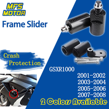 For Suzuki GSXR1000 GSX-R GSXR 1000 No Cut Frame Slider Crash Pads Falling Protector 2001 2002 2003 2004 2005 2006 2007 2008 for suzuki gsr 750 2001 2005 steering damper stabilizer bracket gsr750 01 2002 2003 2004 05 gsxr gsx r gsx r 600 750 gold
