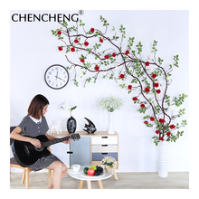 3.2 Meters Large Rose Vine Decoration Artificial rose Rattan Television Living Room Bedroom Hotel Barrel DIY decoration