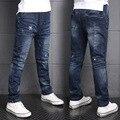 Niños Chicos Pantalones Vaqueros de Mezclilla Otoño del Resorte Pantalones Pantalones Casuales Niños Pantalones Pantalones Vaqueros de Los Niños Pantalones de La Manera 2016 Nuevo Azul B307