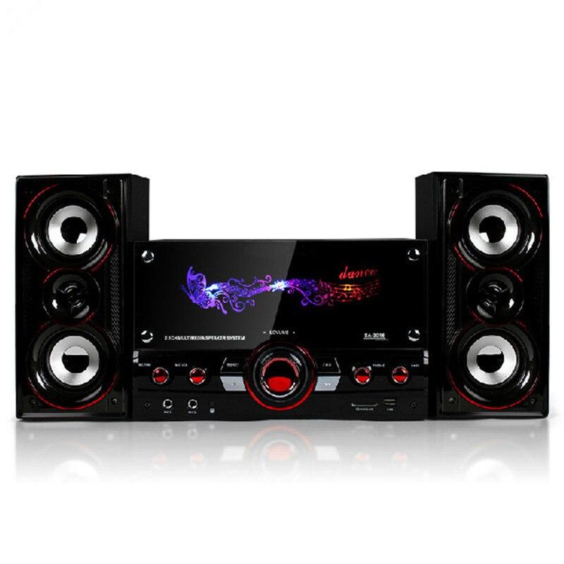 New High quality Cheap HiFi Bluetooth Speakers desktop audio computer speaker multimedia Color screen usb wool 2.1 subwoofer