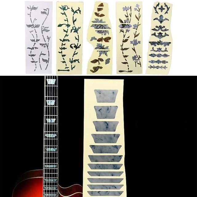 חדש אקוסטית חשמלי גיטרה מדבקות בס שיבוץ מדבקות Ultra דק Fretboard מדבקת מכשיר גיטרה אבזרים