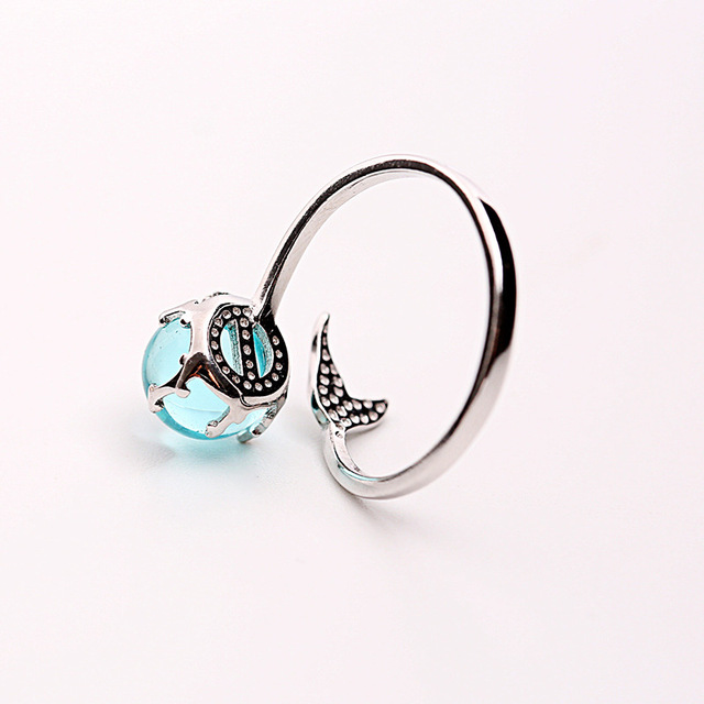 Women's Sterling Silver Mermaid Tail Ring 4