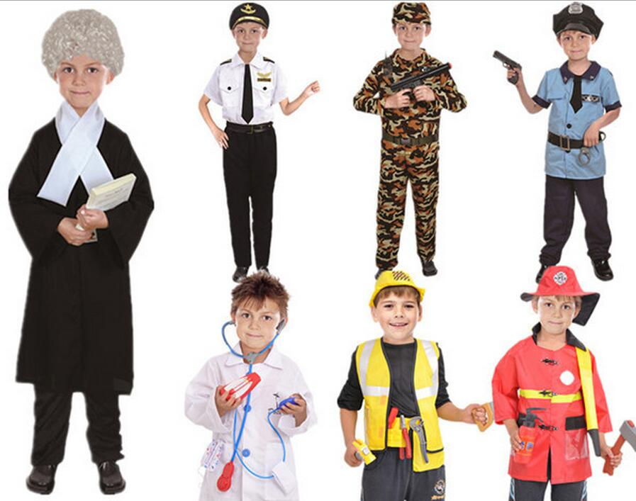 childrens halloween costumes fantasia disfraces boys police costumes kids police lawyer doctor cosplay pilot fireman cosplay - Kids Doctor Halloween Costume