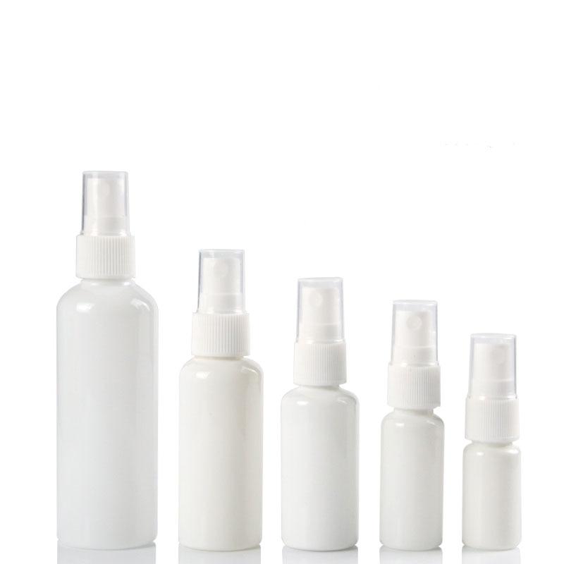 100pcs Spray Pump Bottle Plastic 10ML 20ML 30ML 50ML 100ML Mist Atomizer Facial Hydrating Empty Vial Cosmetic Refillable Bottle