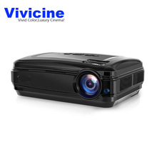 Vivicine Portable Home Projector,Android 6.0 WIFI Optional,HD 1080P Multimedia Video Game Proyector Beamer,3500 Lumens HDMI TV