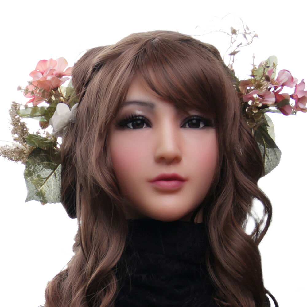 KOOMIHO Soft Silicone Realistic Female Head Mask Handmade Makeup Mask Claire Goddess Top masquerade Cosplay Mask Transgender 1G  - buy with discount