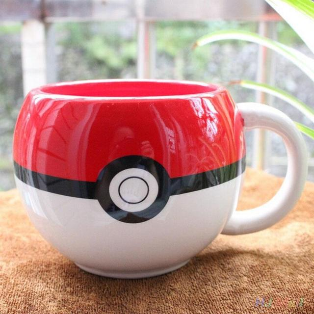 Poke mon 3D Figural Coffee Mug with handgrip ceramic milk cup poke ball personal gift with gift box china bone cup