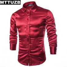 MTTUZB Men fashion formal dress shirt men's wedding party shirts man long sleeved slim business work shirts male clothing M-XXL