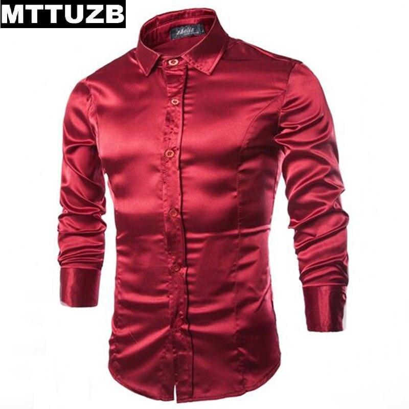 MTTUZB Men fashion formal dress shirt men s wedding party shirts man long sleeved slim business
