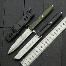 Острый нож с фиксированным лезвием, тактический прямой нож для кемпинга и охоты, выживания, инструмент для повседневного использования, куртка для переноски