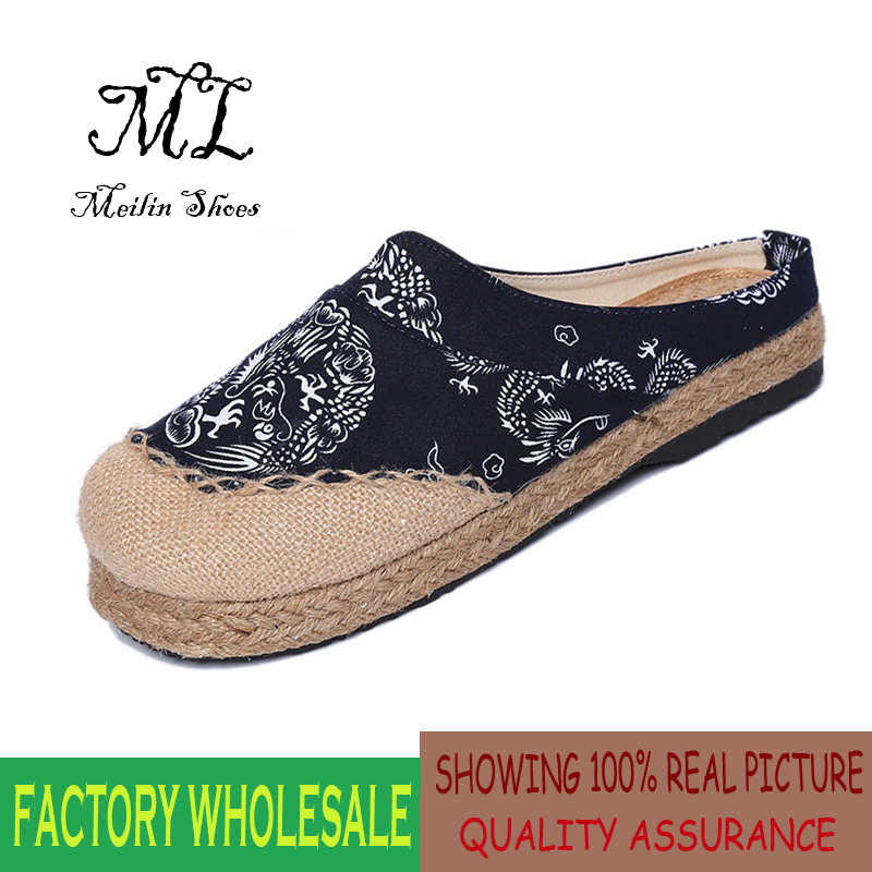 Summer Women Cow Split Leather Casual Flats Shoes ...