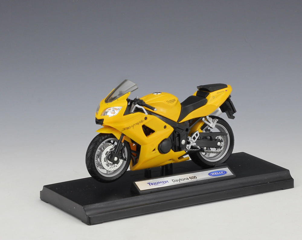 Welly 1:18 Triumph Daytona 600 MOTORCYCLE BIKE DIECAST MODEL TOY NEW IN BOX FREE SHIPPING