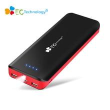 EC Technology Power Bank 16000mah Bateria Externa Portable Charger Powerbank 3 USB Power Bank 18650 Cargador Portatil