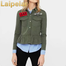 2018 New applique sequined ruffled jacket basic coat Laipelar Autumn short jackets high street outwear women fashion top