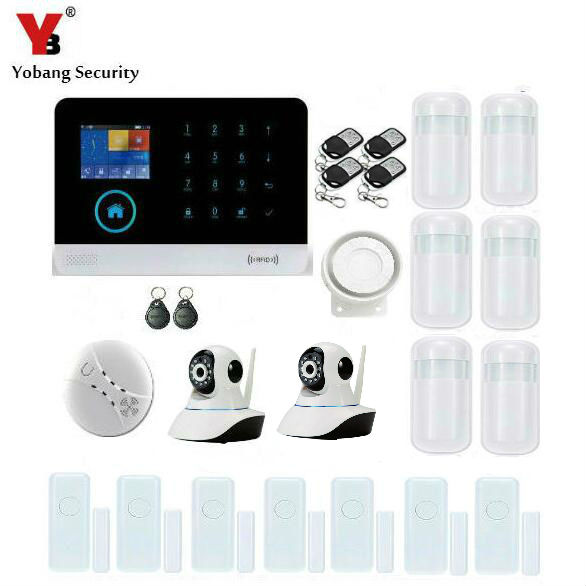 Yobang Security WIFI GSM RFID Alarm System Smart Home Automation HD Camera Door/Window Contact Security Protection Alarm System yobang security wifi gsm alarm systems wifi gsm gprs wifi automation gsm alarm system home protection gprs wifi gsm alarm system