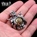 Beier 316L Stainless Steel pendant necklace buddha pendant gold skull  jewelry  BP8-183