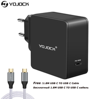 YOJOCK 60W USB Type C Wall Charger Power Adapter with Power Delivery for Apple MacBook/iPhone XS XR /Xiaomi USB C PD Charger