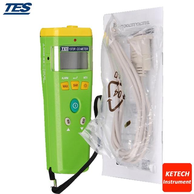TES1372R Портативный CO анализатор Угарный газ метр RS232