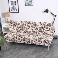 1piece Flexible Folding Sofa Bed Cover Floral Printing Slipcovers Simple Install Recliner Sofa Cover suit for Length 160 to195cm