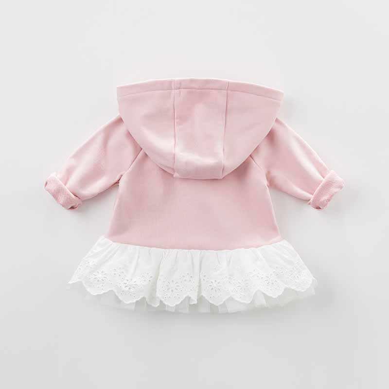 DBJ7875 דייב bella סתיו תינוקות תינוק בנות ברדס מעיל ילדים קשתות הלבשה עליונה פעוט ילדים באיכות גבוהה יפה בגדים