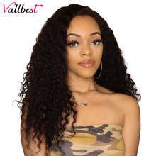 Vallbest Brazilian Curly Lace Front Human Hair Wigs For Black Women Pre Plucked Lace Wig With Baby Hair Remy Lace Front Wig(China)