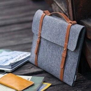 Image 2 - Yün keçe ince çanta Laptop çantası 15.6 için Macbook Xiaomi Samsung Lenovo 11 12 13 14 15 15.6 dizüstü bilgisayar çantası taşınabilir kapak