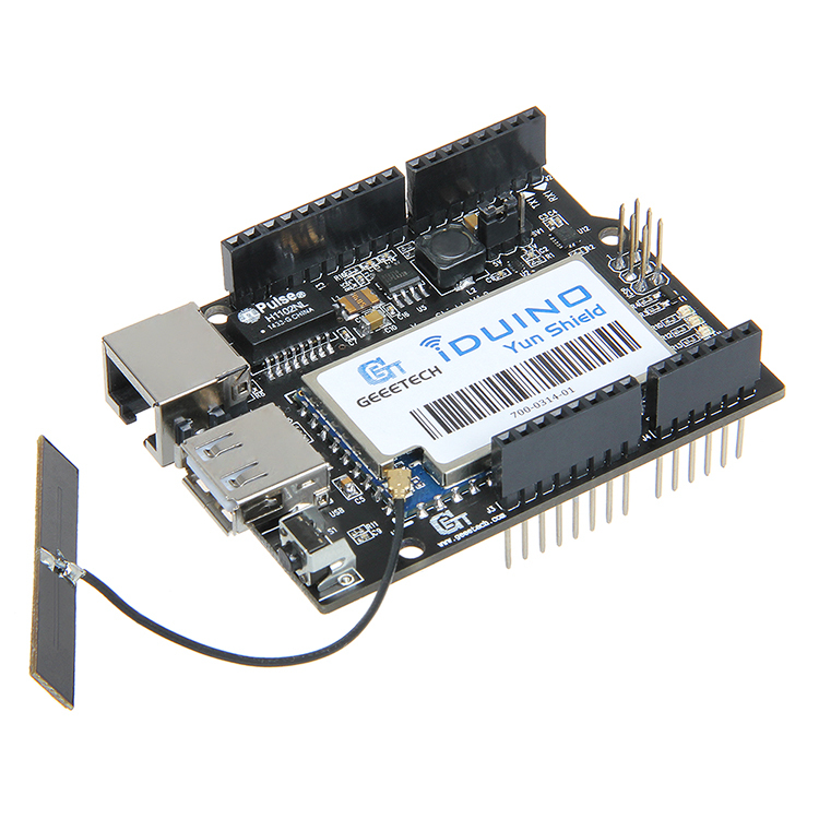 Linux, WiFi, Ethernet, USB, bouclier Yun tout-en-un Compatible avec Arduino Leonardo, UNO, Mega2560, Duemilanove