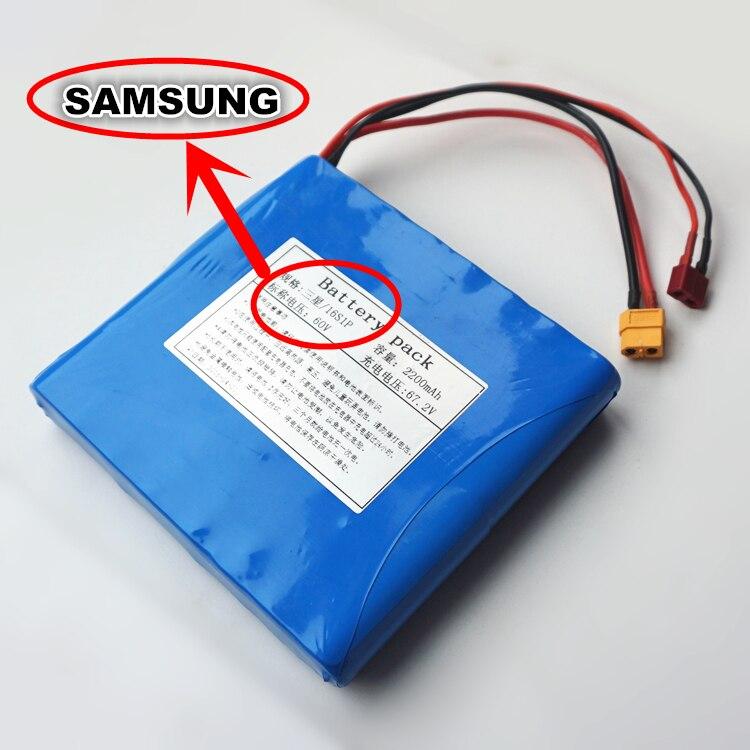 Original pour SAMSUNG 60 V dynamique Li-ion batterie Pack 2200 mAh pour monocycles électriques, e-scooters, e-vélos batterie externe