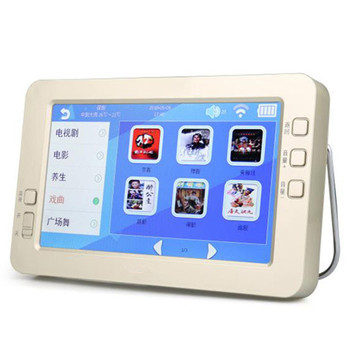 Portable big screen intelligent HD video machine charging MP3 MP4 player touch screen WiFi internet U disk TF card play Speaker