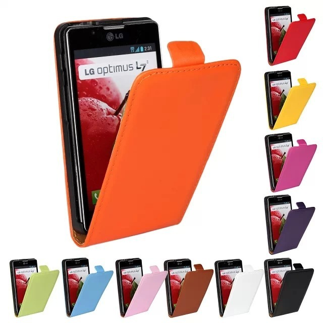 Genuine Real Leather Case Flip Cover Mobile Phone Accessories Bag Retro Vertical For L7 II 2 For LG L7II P710 L7X P714 PS