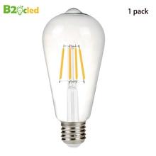 Retro Edison LED Bulb 110V 220V ST64 E27 4W 8W Ampoule Vintage Ball Light Bulbs Filament high quality led Lamp chandelier cri 90