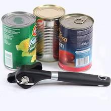 1 шт., пластиковый Профессиональный кухонный инструмент, безопасная ручная консервная открывалка, боковая огранка, удобная ручка, ручная открывалка, нож для банок, крышка