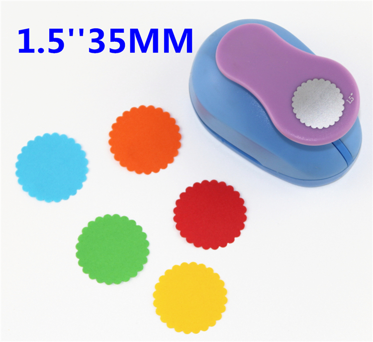 15 Inch Round Embossed Scrapbooking Paper Punch Puncher