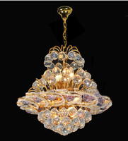 So Elegant Gold Crystal Chandelier Light Fixture With Beautiful Blue Crystal Balls 8 Light Guaranteed 100
