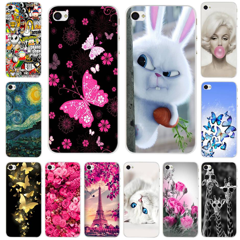 Painted Apple Iphone 4S 4 Case Cover Cute Cartoon Hard PC Back Cover For Iphone 4S 4 S Phone Bag Cases 4.0