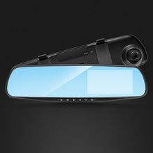 лучшая цена Night Vision Car Dvr Camera Rearview Mirror Digital Video Recorder Auto Camcorder Dash Cam FHD 1080P dual lens Registrator