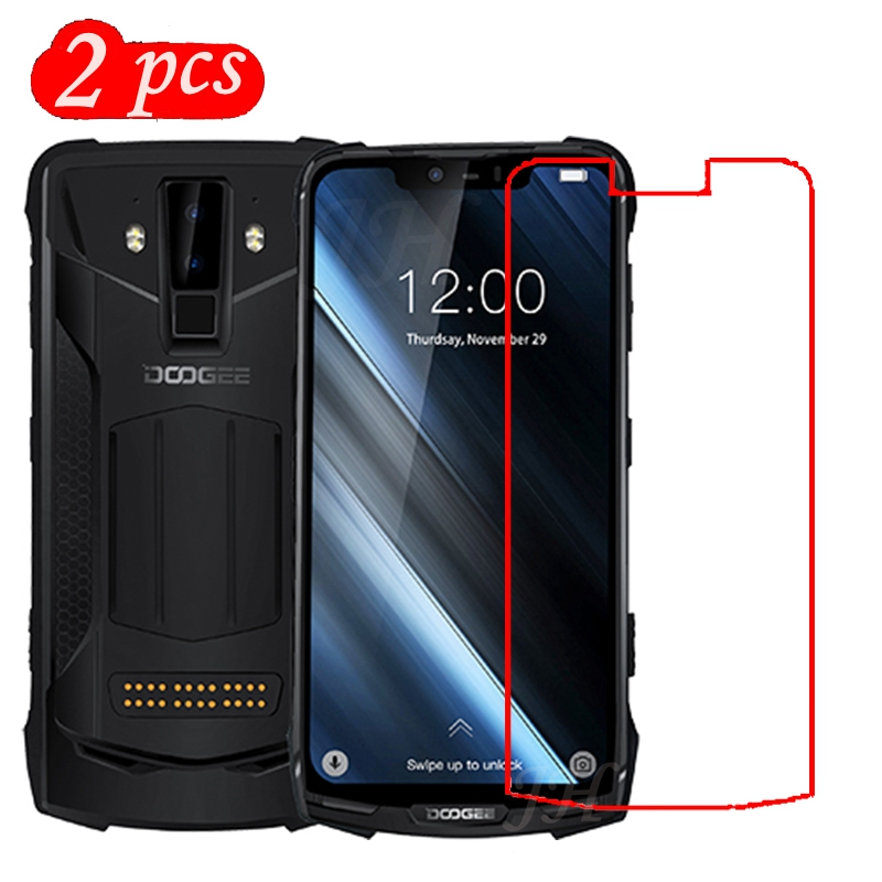 2pcs Tempered Glass For Doogee s90 Protective Film 9H Explosion-proof LCD Screen Protector For Doogee s90(China)