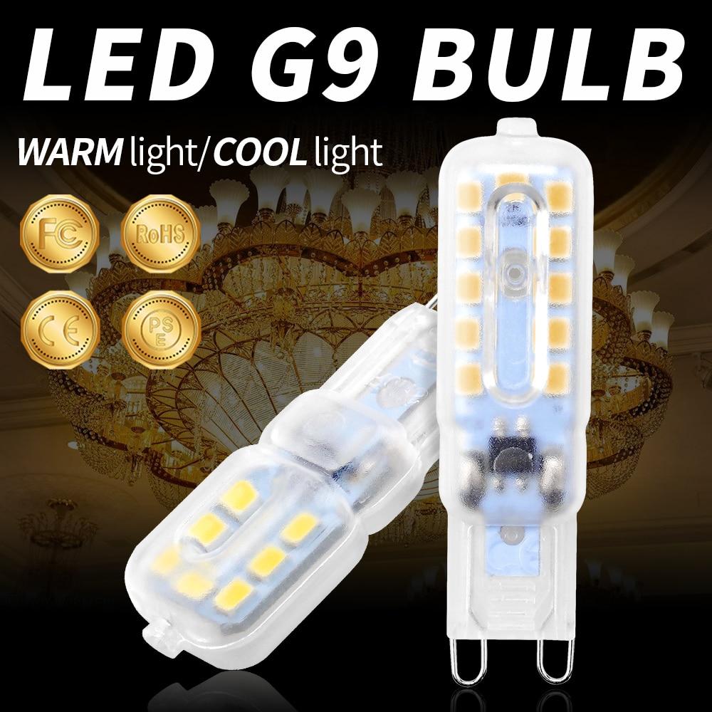 G9 LED Mini Corn Light Bulb g9 Led 3W 5W Spotlight Energy Saving Lamp 2835 SMD Chandelier Crystal Lamp Replace 20W Halogen Lamps
