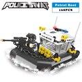 Estación de policía swat militar barco de serie 3d bloques de construcción modelo compatible con lego city boy manías del juguete de regalo