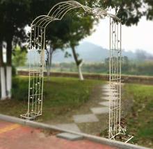 Vintage do old iron arch plant climbing frame flower vine bracket garden grape trellis