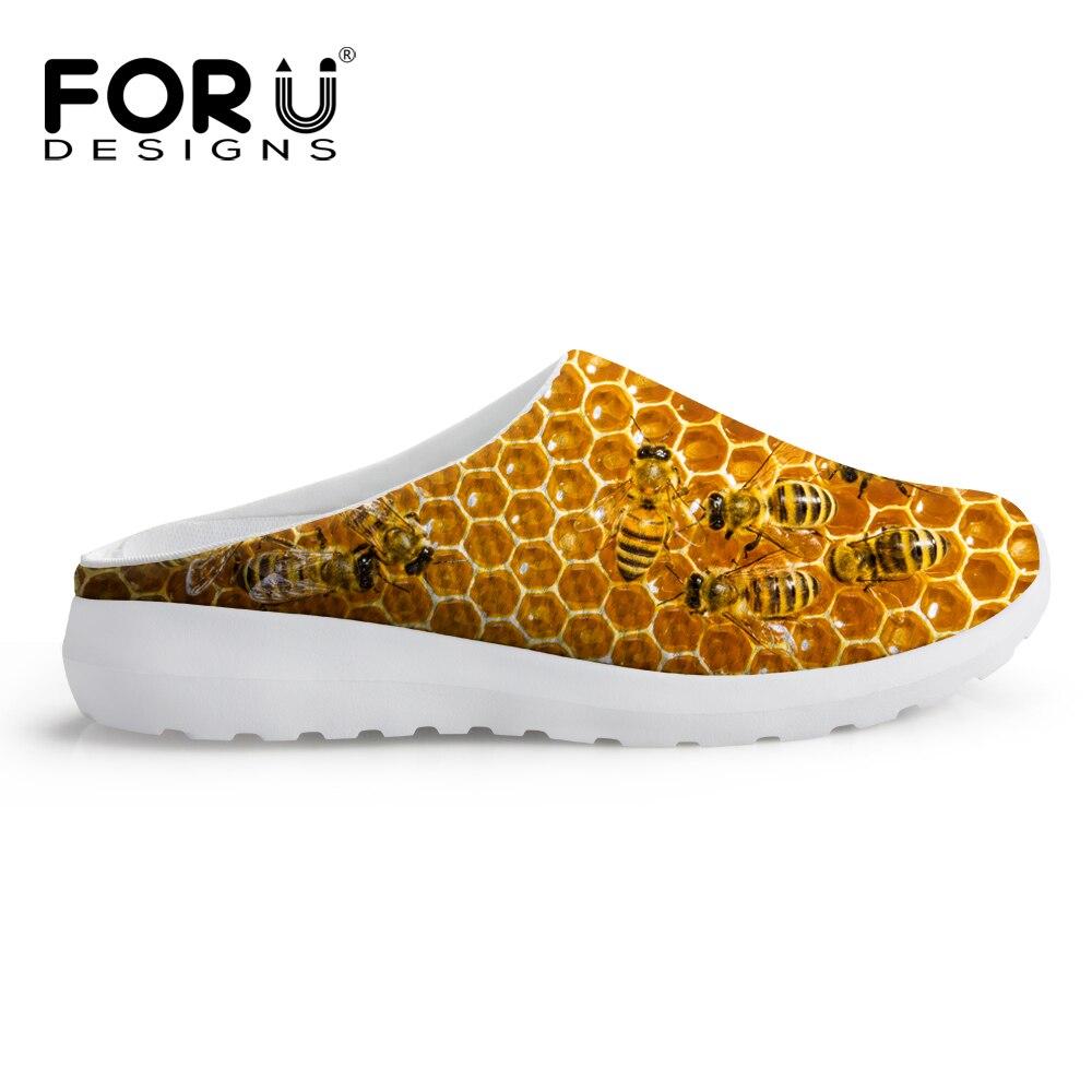 Maille Nid Imprimé Chaussures Respirant Plage Mesdames Automne Sandales D'Abeilles qxwU1T4EP