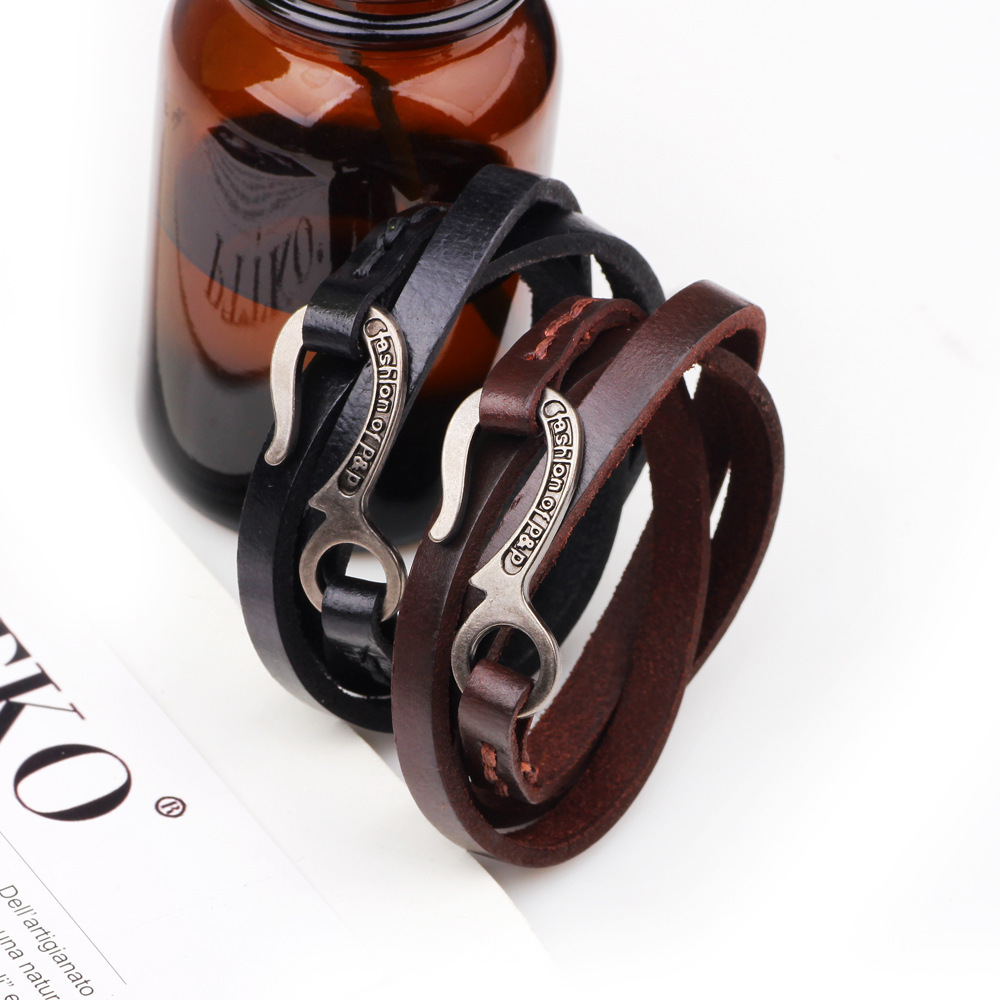 Punk Cool Bracelet 69linnor Pu In Simple Charm Leather From Multilayer Bracelets Us3 Braclet Fashion Couple Homme P Braslet Jewelryamp; amp;p Hook Of ZiXOPkuT