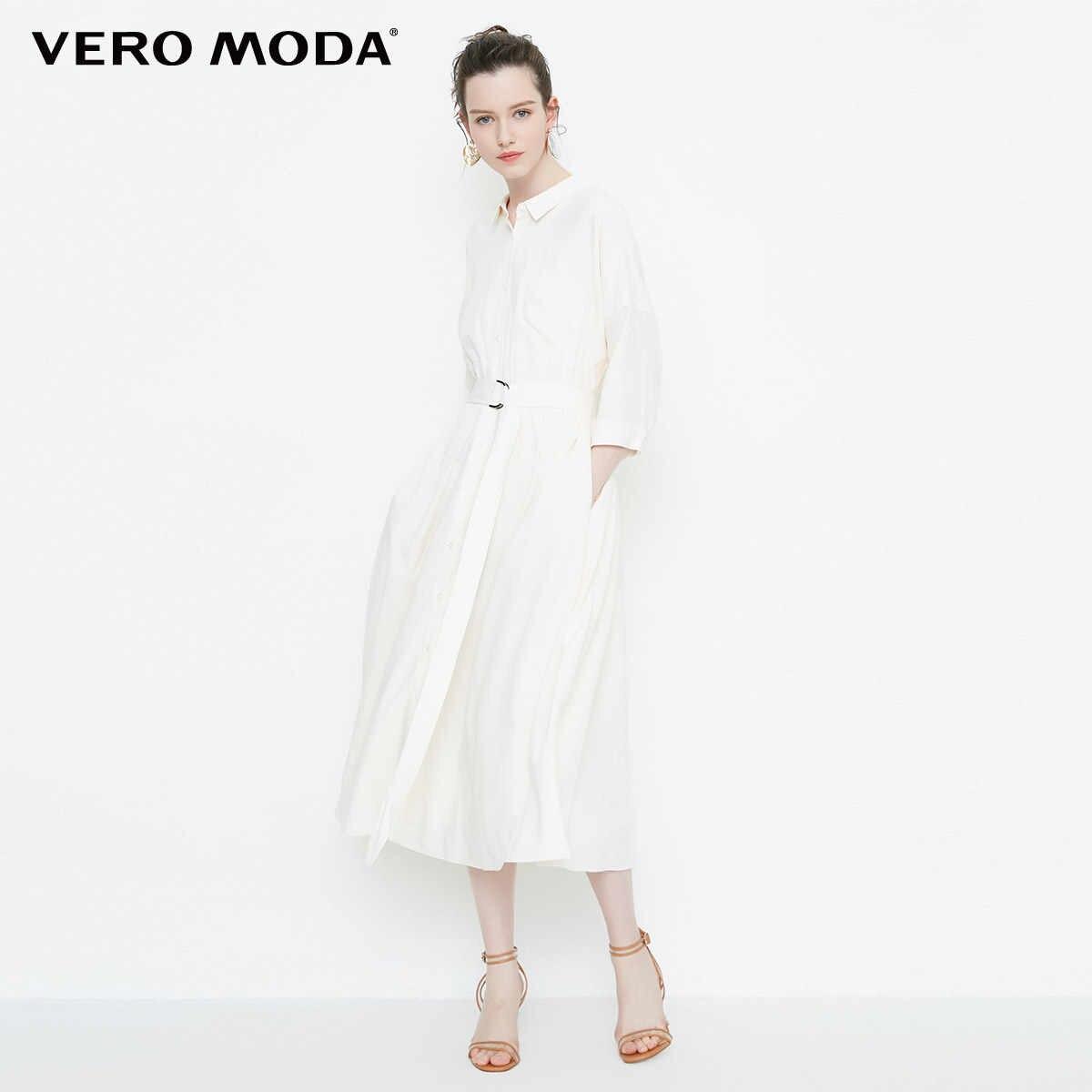 Vero Moda 2019 однобортное переднее Двухстороннее платье налокотники | 31826W526