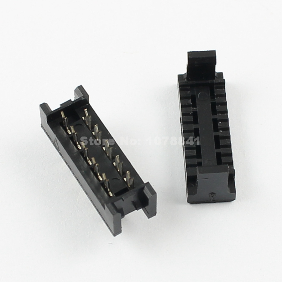 10 Pcs Per Lot 254mm Pitch 2x5 Pin Male Header Idc Ribbon 1394 6 Wiring Diagram Cable Transition Connector In Connectors From Lights Lighting On
