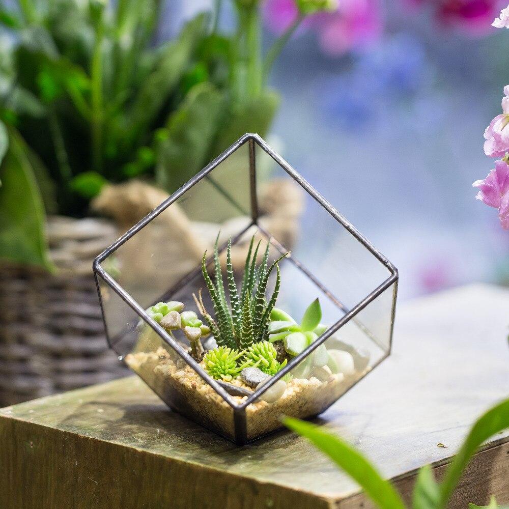 Handgemaakte tafelblad succulente installatie Micro landschap - Tuinbenodigdheden - Foto 2