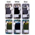 Золотой Синий Белый Телефон Ближний Середина Рамка Шасси Корпус для Samsung Galaxy S6 edge Запасные Части Ремонт Часть Бесплатная Доставка